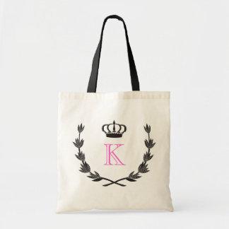 Princess Royal Crown & Custom Monogram Budget Tote Bag