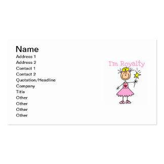 Princess Royalty Pack Of Standard Business Cards