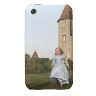 Princess running in castle s garden iPhone 3 Case-Mate cases