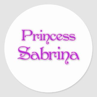 Princess Sabrina Classic Round Sticker