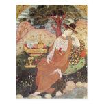 Princess sitting in a garden, Safavid Dynasty Postcard