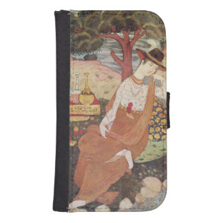 Princess sitting in a garden, Safavid Dynasty Samsung S4 Wallet Case