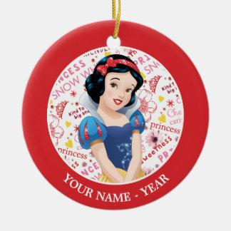Princess Snow White | Crossing Arms Add Your Name Christmas Ornament
