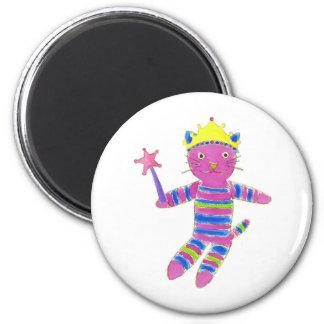 Princess Sock Kitty 6 Cm Round Magnet