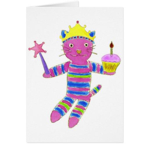 Princess Sock Kitty Cupcake Cards