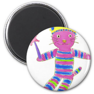 Princess Sock Kitty Fridge Magnet