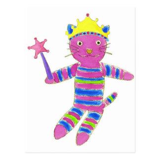 Princess Sock Kitty Postcard