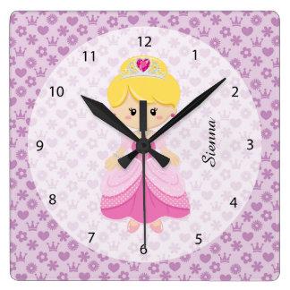 Princess Square Wall Clock