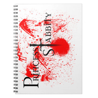 Princess Stabbity Spiral Notebook