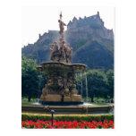 Princess Street gardens, Edinburgh, Scotland f Postcard