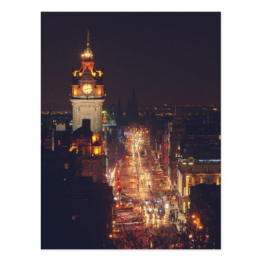 Princess Street in Edinburgh Postcard
