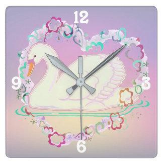 Princess Swan clock
