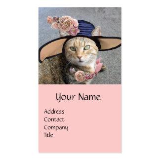 PRINCESS TATUS /ELEGANT CAT,BIG DIVA HAT AND ROSES BUSINESS CARDS