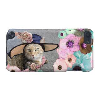 PRINCESS TATUS /ELEGANT CAT,BIG DIVA HAT AND ROSES iPod TOUCH 5G CASE