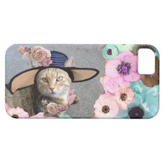 PRINCESS TATUS ELEGANT CAT,BIG DIVA HAT AND ROSES iPhone 5 COVER