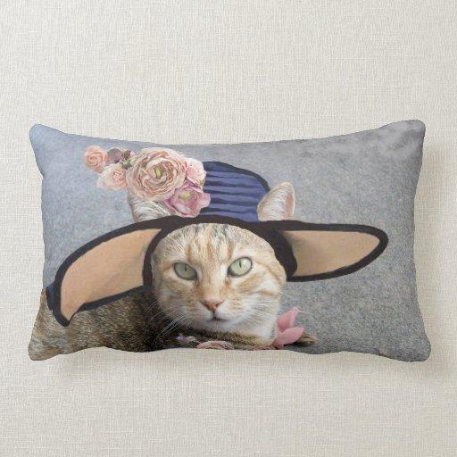 PRINCESS TATUS /ELEGANT CAT,BIG DIVA HAT AND ROSES PILLOWS