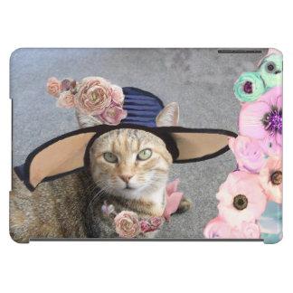 PRINCESS TATUS /ELEGANT CAT,BIG DIVA HAT AND ROSES iPad AIR CASES