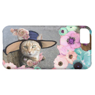 PRINCESS TATUS ELEGANT CAT,BIG DIVA HAT AND ROSES iPhone 5C CASE