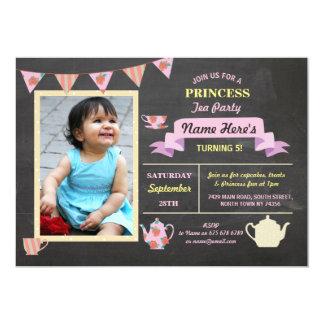 Princess Tea Party Chalk Pink Birthday Invite