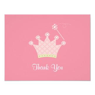 Princess Thank You Note 11 Cm X 14 Cm Invitation Card