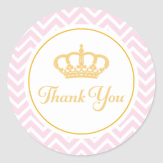 Princess Thank You Tag Round Sticker