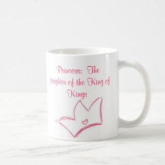 Princess:  The daughter of the King of Kings Basic White Mug