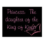 Princess:  The daughter of the King of Kings Postcard