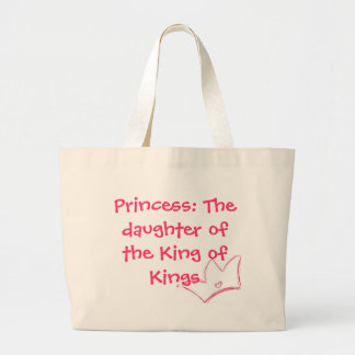 Princess: The daughter of the King of Kings tote Jumbo Tote Bag