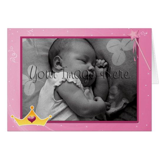 Princess Theme Photo Template Birthday Invitation
