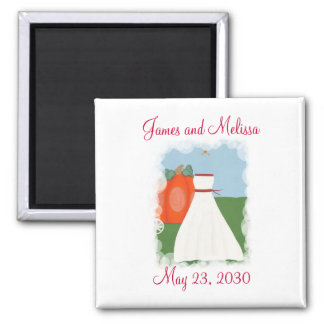 Princess Themed Save the date Wedding Magnets