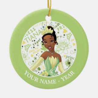Princess Tiana | Tiana Add Your Name Christmas Ornament