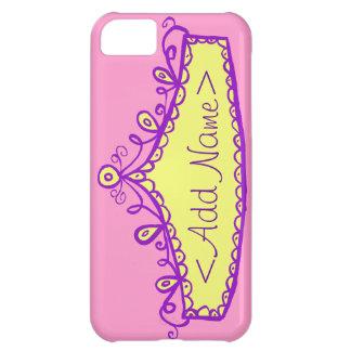 Princess Tiara Crown Custom Name iPhone Case iPhone 5C Case