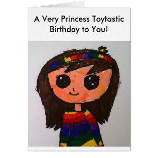 Princess Toytastic Birthday Card