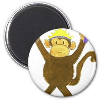 Princess Tumbling Monkey Fridge Magnet