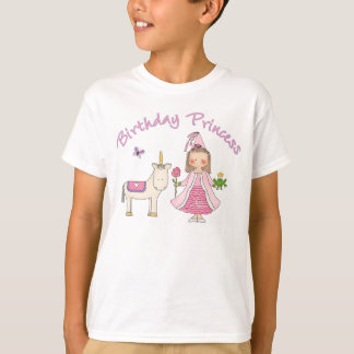 Princess Unicorn Birthday Girl T-Shirt