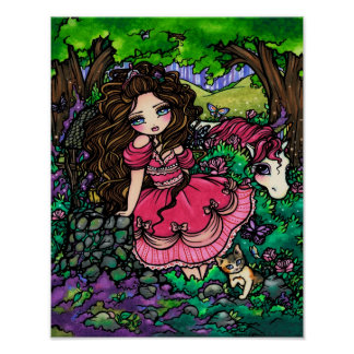 Princess & Unicorn Fantasy Art Poster Hannah Lynn