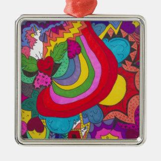 Princess unicorn jazzy pattern christmas ornament