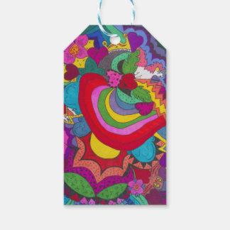 Princess unicorn jazzy pattern gift tags