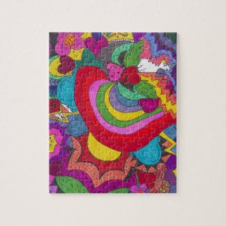 Princess unicorn jazzy pattern jigsaw puzzle