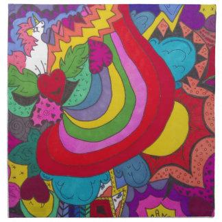 Princess unicorn jazzy pattern napkin
