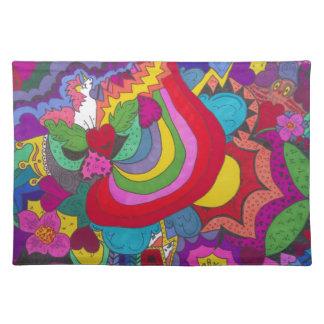 Princess unicorn jazzy pattern placemat