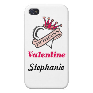 Princess Valentine Crown and Heart iPhone 4/4S Case