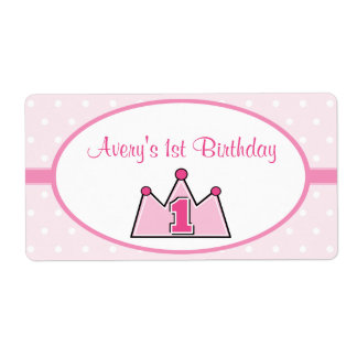 Princess Water Bottle Labels Stickers