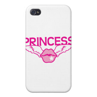 PRINCESS wings kissing lips iPhone 4 Covers