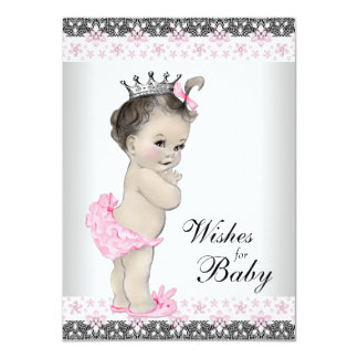 Princess Wishes for Baby Card Baby Shower 11 Cm X 16 Cm Invitation Card