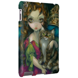 """Princess with a Maine Coon Cat"" iPad Case"