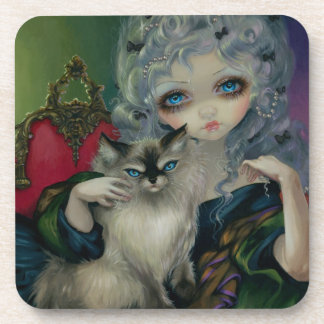 """Princess with a Ragdoll Cat"" Coaster"