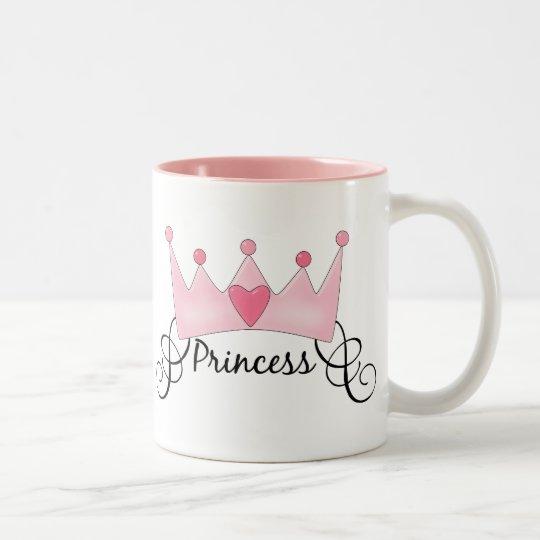 Princess With Crown - Customisable Two-Tone Coffee Mug