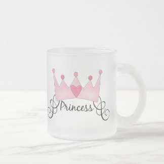 Princess With Crown - Customizable Frosted Glass Mug