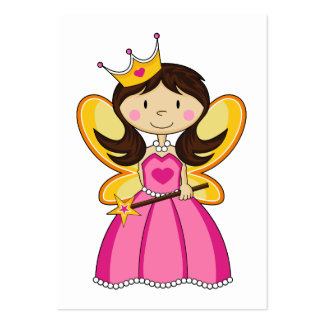 Princess with Wand Bookmark Business Card Templates